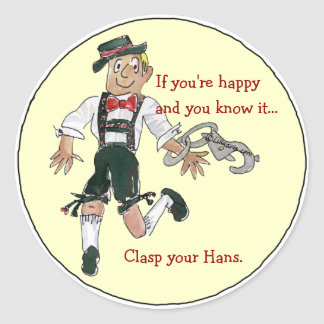 Lederhosen Octoberfest Funny Stickers Seals