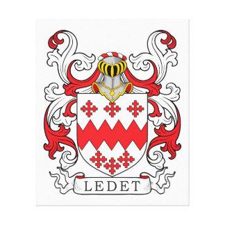 Ledet Coat of Arms Stretched Canvas Prints