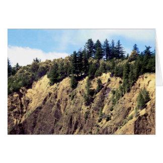 Ledge On The Edge Of Kaluna Cliff Card