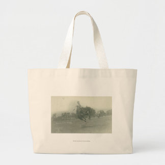 Lee Caldwell riding Flying Devil. Jumbo Tote Bag