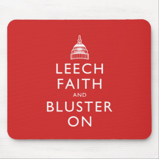 Leech Faith and Bluster On Mouse Pad