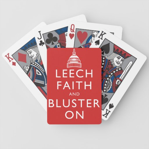 Leech Faith and Bluster On Bicycle Card Deck