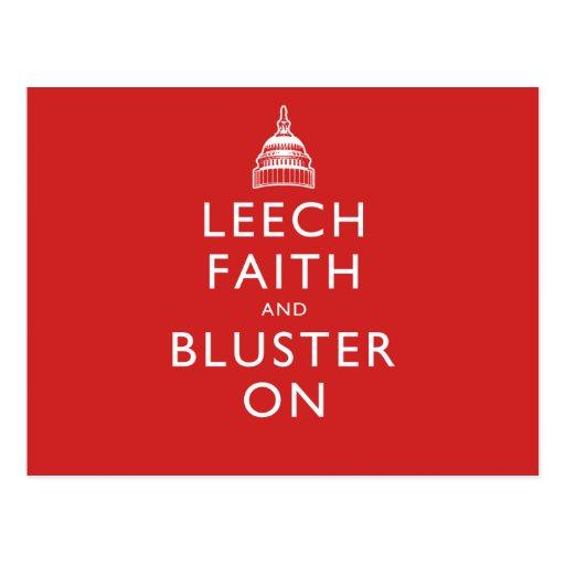 Leech Faith and Bluster On Postcards
