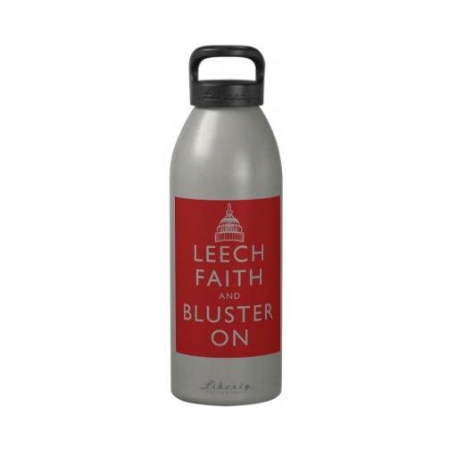 Leech Faith and Bluster On Drinking Bottles