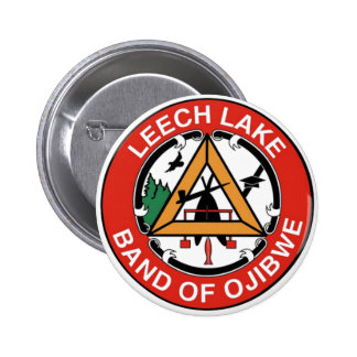 Leech Lake Band of Ojibwe 6 Cm Round Badge