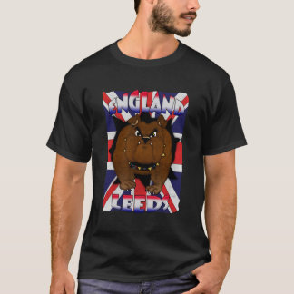 Leeds England T Shirt For Men British Bulldog