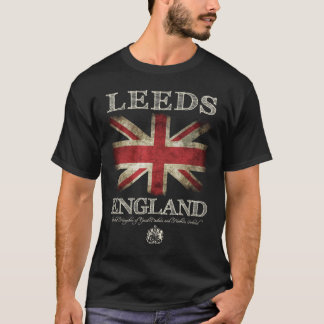 Leeds England UK Flag T-Shirt
