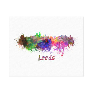 Leeds skyline in watercolor canvas print