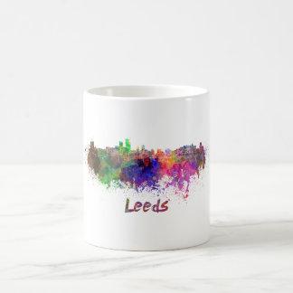 Leeds skyline in watercolor coffee mug
