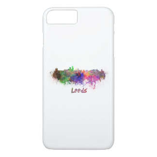 Leeds skyline in watercolor iPhone 8 plus/7 plus case