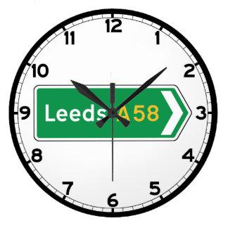 Leeds, UK Road Sign Clock