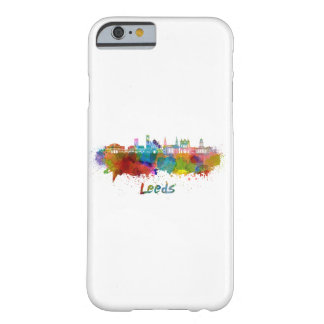 Leeds V2 skyline in watercolor Barely There iPhone 6 Case