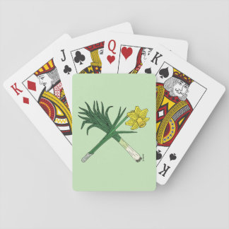 Leek and Daffodil Crossed Playing Cards