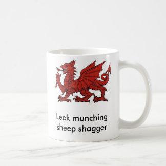 Leek munching sheep shagger coffee mug