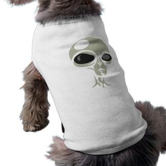 Leering eyes alien face customizable sleeveless dog shirt