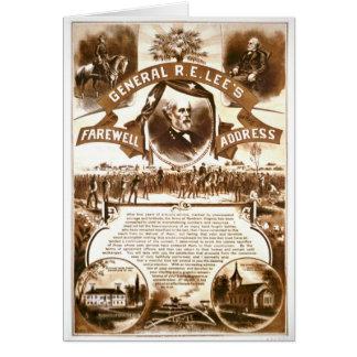 Lee's Farewell Address 1865 Greeting Card