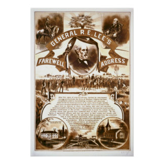 Lee's Farewell Address 1865 Poster