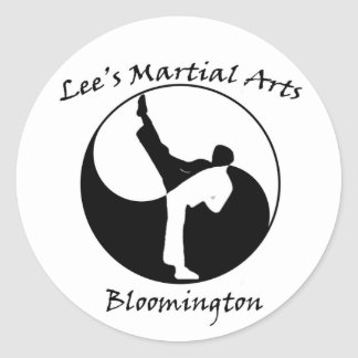 Lee's Martial Arts Logo Classic Round Sticker