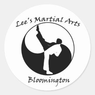 Lee's Martial Arts Logo Round Sticker