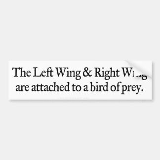 Left and Right Wing Bumper Sticker
