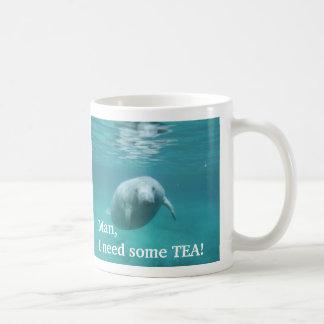 Left Handed Customized Manatee Tea Mug