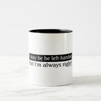 Left-handed people coffee mug