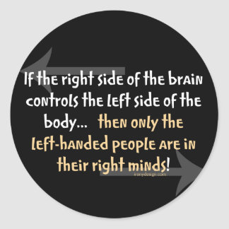 Left-handed people round stickers