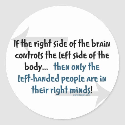 Left-handed people round sticker