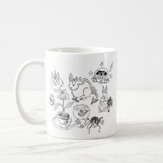 Left-handed plot bunnies mug