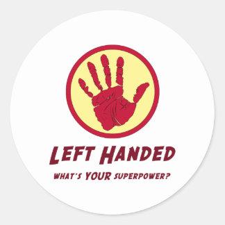 Left Handed Super Power Sticker