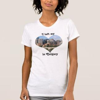 Left My Heart Calgary City Skyline Alberta Canada T-Shirt