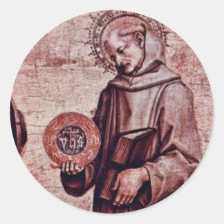 Left Predellatafel Altar Triptych Classic Round Sticker