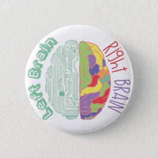 Left & Right Brain 6 Cm Round Badge
