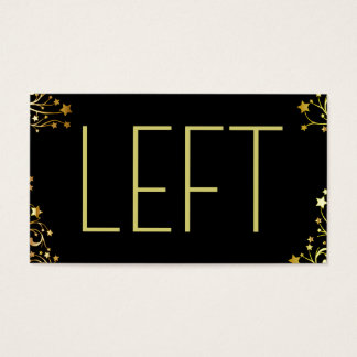 Left Right Christmas Gift Passing Game Business Card