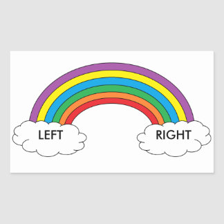 Left/Right Shoe Stickers (Rainbow)