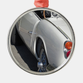 Left side of an old british classic car metal ornament