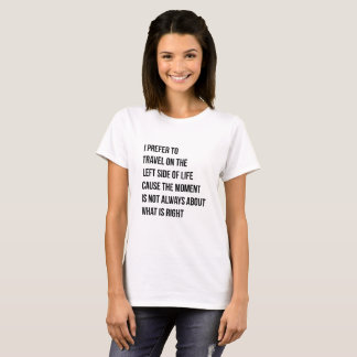 Left Side of Life T Shirt by Tunisia Jolyn (White)