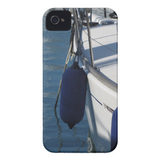 Left side of sailing boat with two blue fenders iPhone 4 covers
