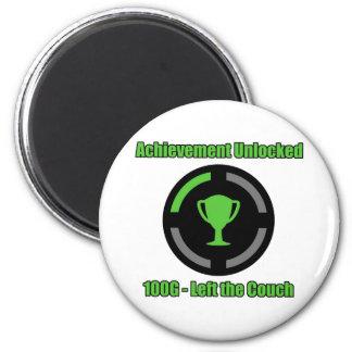 Left the Couch - Achievement Unlocked 6 Cm Round Magnet