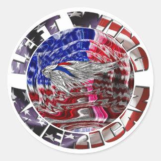 Left Wing American Round Sticker