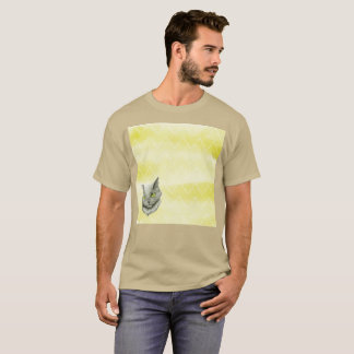 Leftist Floating Gato Head Watercolor Rare T-Shirt