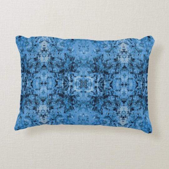 'Leftovers' Blue Pattern Decorative Cushion