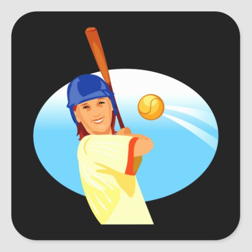 Lefty Girl Batting.png Stickers