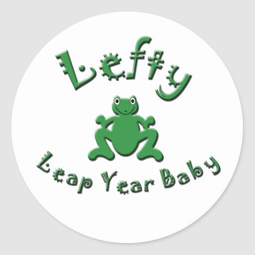 Lefty Leap Year Baby Sticker
