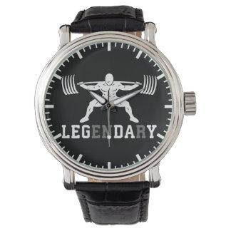 Leg Day - Legendary - Squat - Gym Inspirational Watch