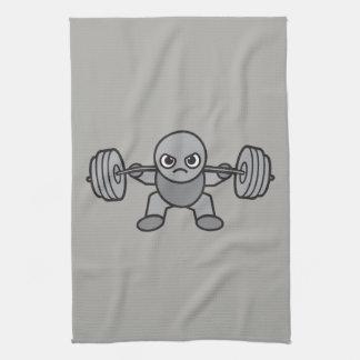 Leg Day - Squat - Kawaii Weightlifter Tea Towel