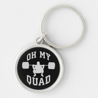 Leg Day - Squat - OH MY QUAD - Workout Key Ring