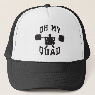 Leg Day - Squat - OH MY QUAD - Workout Trucker Hat