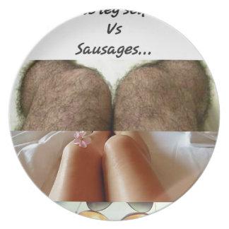Leg Selfies Vs Sausages... Plate