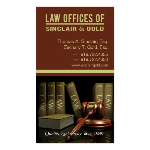 Legal3 Law Offices of Attorney - Lawyer Business Cards